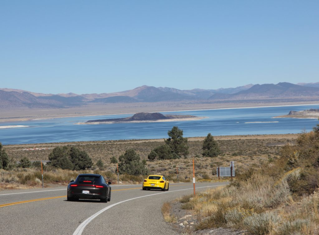 Heading down to Mono Lake